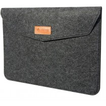 Slate Grey Premium 13.3-Inch Felt Laptop Sleeve