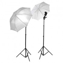 Small Studio Umbrella Light Setup With Bracket And Stand Set