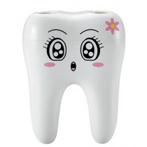 Tooth Shape Plastic Toothbrush Holder