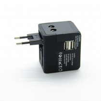 Universal 2 Usb Travel Adapter-2100 Ma Adaptor