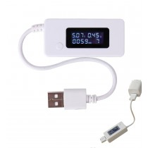 White USB Port Tester Charger
