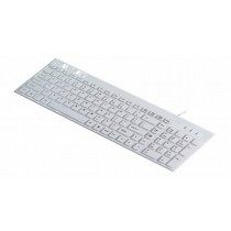 White 104 Chocolate Keys Standard Keyboard