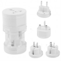 White All in 1  Plug Travel Universal Adaptor