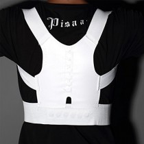 White Magnetic Posture Support Corrector Body Back Pain Belt