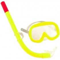 Yellow Swimming Snorkel Set