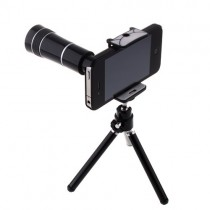 10x Optical Zoom Telescope Lens With Tripod and Back Case