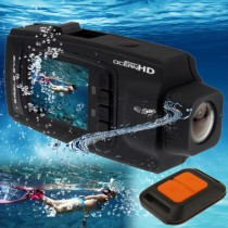 Black 2.0 Inch Waterproof 5.0 Mega Pixels Sport DVR
