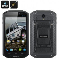 Black 5 Inch Aoro I5 Rugged Smartphone