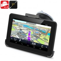 Black 7 Inch Android 4.4 GPS Navigation