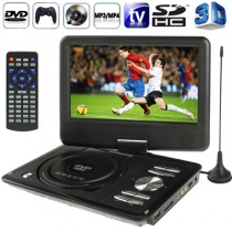 Black 9.0 Inch TFT LCD Screen Digital Multimedia Portable DVD