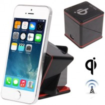 Black Cube Mount Holder Base QI standard Car Kit Wireless Charger