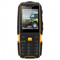 Black Waterproof 2.4 Inch Rugged Bar Phone