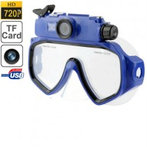 Blue 5.0 Mega Pixels CMOS Diving Mask Camera