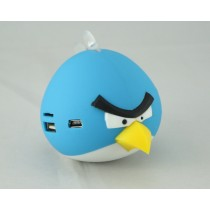 Blue Color Angry Bird Portable MP3 Speaker