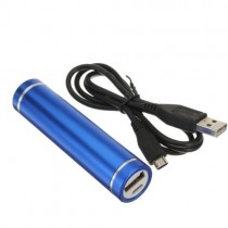 Blue Color Lighter Design 2600 mAh Portable Power Bank