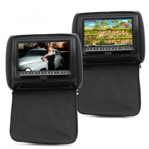 Car Headrest 9 Inch Monitor With DVD Player (Pair)