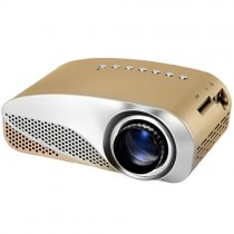 Gold Portable Micro Projector Home Theater