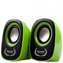 Green Color Audio Usb2.0 Portable  Mini Speaker