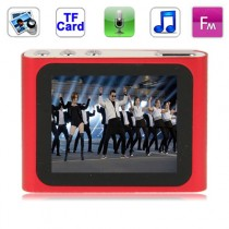 Metal Red 1.8 inch TFT Screen MP4 Player