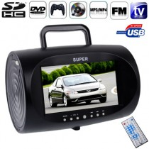 Portable 7.5 Inch DVD Player With USB Interface