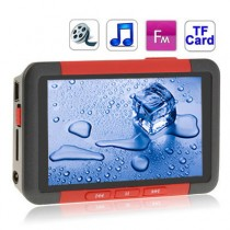 Red 3.0 Inch TFT Screen MP4 Player With FM Radio