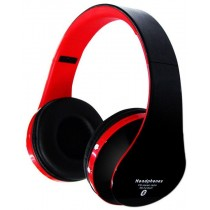 Red Foldable Wireless Stereo Bluetooth Headphone
