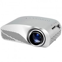 Silver Portable Micro Projector Home Theater