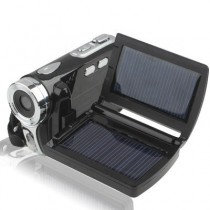 Stylish 2.8 Inch Solar Energy 4X Zoom DV Digital Video Camera