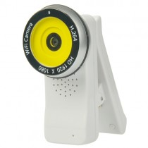 White 180 Degree Rotation WiFi Video Camera