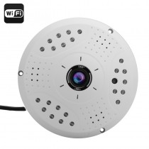 White 3 Megapixel 360 Degree Fisheye IP Camera
