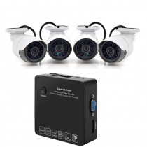 White 4 Channel NVR Security Surveillance Kit