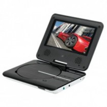 White 7 Inch Portable DVD Player