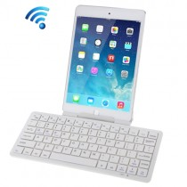 White Portable Ultra-Slim Bluetooth Wireless Keyboard