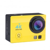 Yellow 2 Inch LCD Display Wi-Fi Waterproof Sports Action Camera