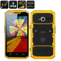 Yellow 5.5 Inch A7 Pro Android Rugged Smartphone